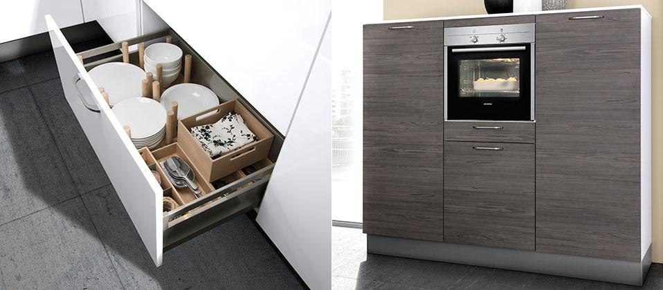 puristische einbauk che mit attraktiver lackfront intercuisines. Black Bedroom Furniture Sets. Home Design Ideas